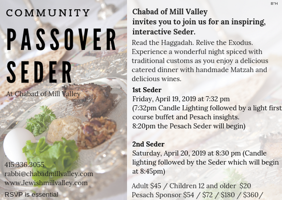 Community Passover Seder | Chabad of Mill Valley